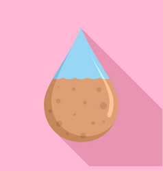 dirty water drop icon flat style vector image