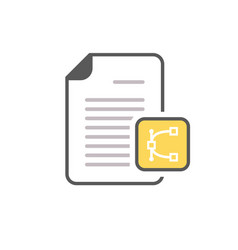 document edit eps file page icon vector image