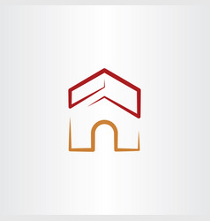 dog house logo icon vector image