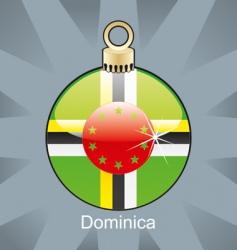 Dominica flag on bulb vector image