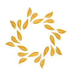 Elegant gold textured floral frame vector