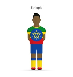 Ethiopia football player Soccer uniform vector