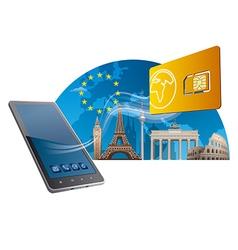 european union mobile service vector image
