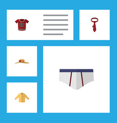 Flat icon clothes set of cravat underclothes vector