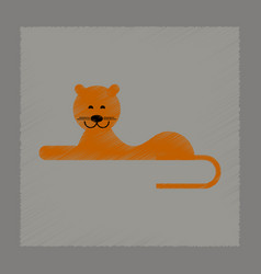Flat shading style icon cartoon lioness vector