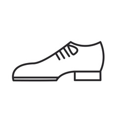 groom shoes line icon sign vector image