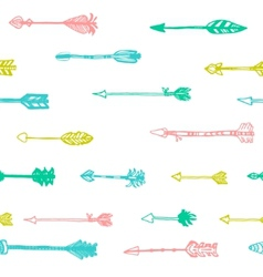 hand drawn arrows in retro style vector image