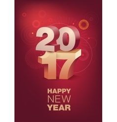 Happy New Year celebration Vertical format vector