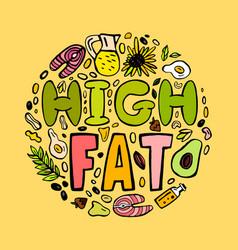 High fat keto diet vector