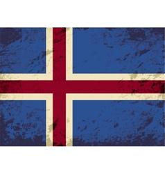 Icelandic flag Grunge background vector