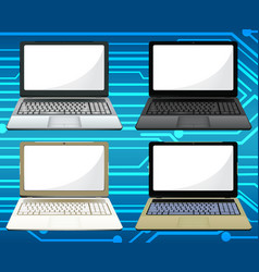 laptop set vector image