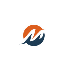 Letter m logo abstract isolated dynamic vector