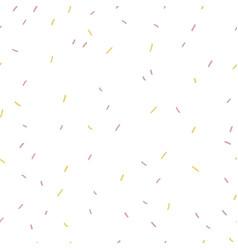 Multicolored confetti on white background vector