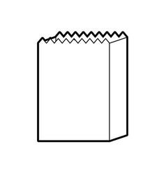 Paper bag bakery empty shopping element vector