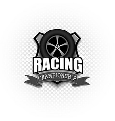 Racing logo template design vector