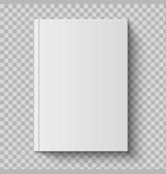 Realistic closed book empty 3d mockup diary vector
