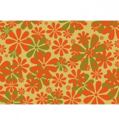 retro daisy pattern vector image