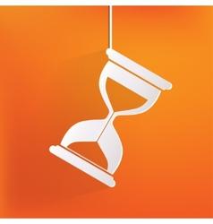 Sand clock icon Glass timer symbol vector image