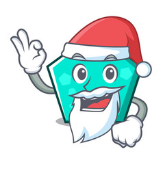santa pentagon mascot cartoon style vector image