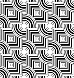 Seamless geometric pattern simple black and white vector image