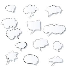 set comic 3d speech bubbles icon thought vector image
