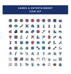 set game and entertainment icon with filled vector image