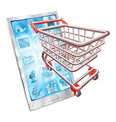 Shopping phone app concept vector