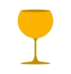 Silhouette golden color with drink cocktail glass vector