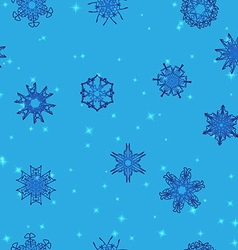 Snowflake Pattern Christmas and new year concept vector image