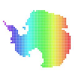 Spectrum dot antarctica map vector