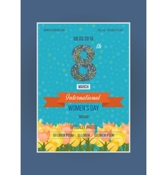 Spring flowers International Happy Women s Day vector image