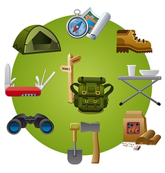 tourism equipment icon vector image