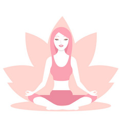woman sitting in lotus position vector image