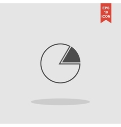 Business pie chart icon Info graphics vector image