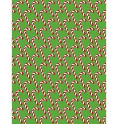 Seamless Christmas Pattern with Candy Cane Stick vector image vector image