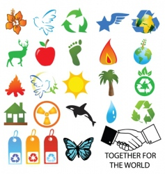 eco friendly buttons vector image vector image