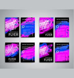 flyer design templates vector image