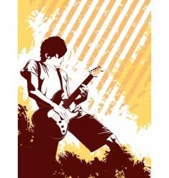 grunge musician vector image