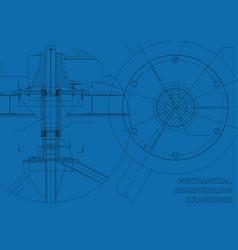 Mechanical engineering drawings blue background vector