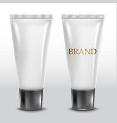 realistic tube for cosmetics vector image