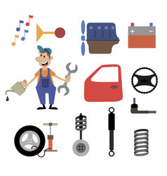 repair shop car service vector image vector image