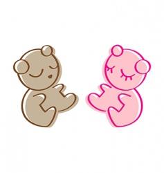 sleeping teddy bear vector image vector image