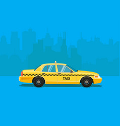 taxi car flat styled vector image vector image