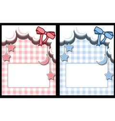 template baby greeting card vector image