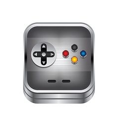 game console button vector image