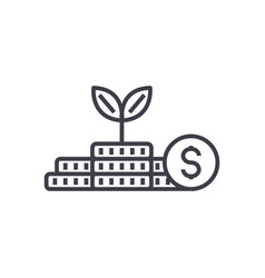 growth moneyinvestmentfinance plan line vector image