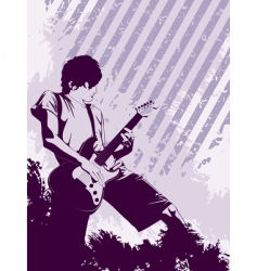 grunge musician vector image vector image