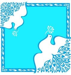 Peace bird ornament vector image