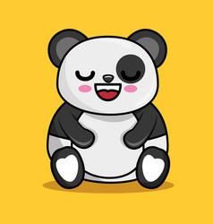 cute panda character kawaii style vector image