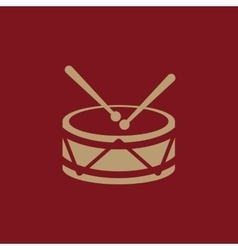 Drum icon design Music and toy Drum symbol web vector image